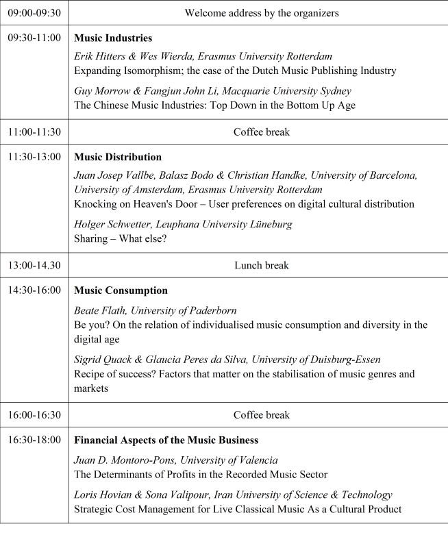 Conference Program 6th VMBR-Days, 30.09.2015